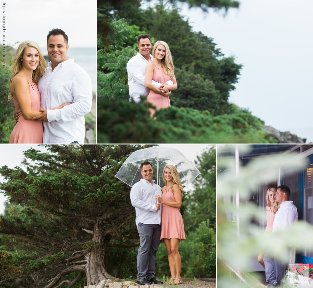 Rainy Ogunquit Maine Engagement Portraits