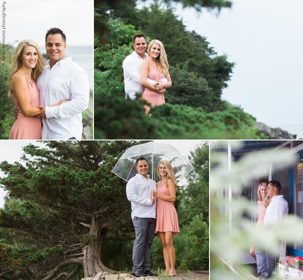 Rainy Ogunquit Maine Engagement Portraits