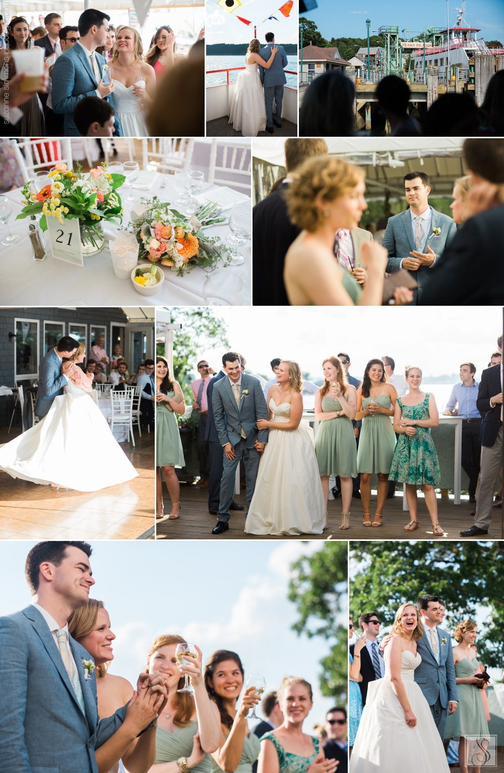 Wedding reception at Jones Landing on Peaks Island