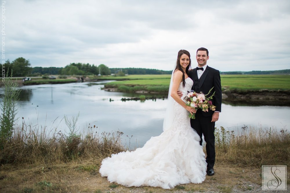 Scarborough Maine wedding portraits on the Eastern Trail