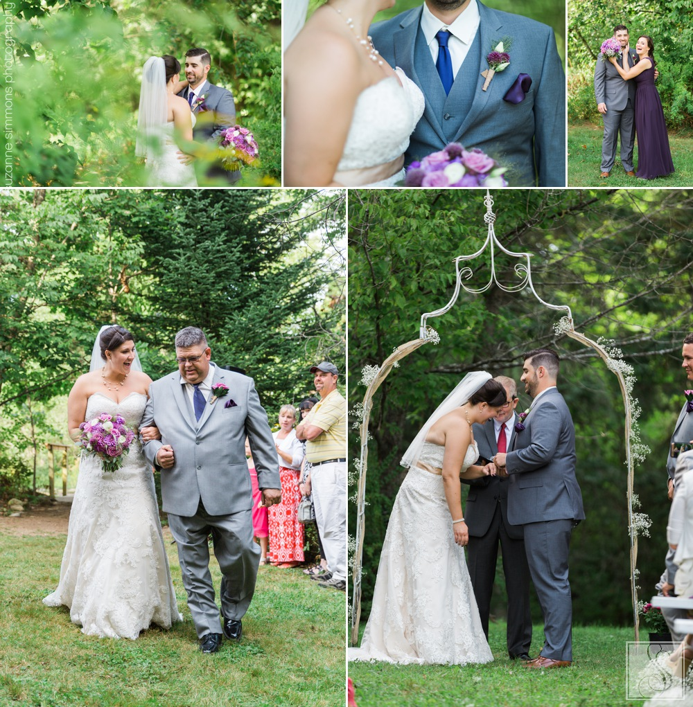 Wedding ceremony at Coolidge Family Farm