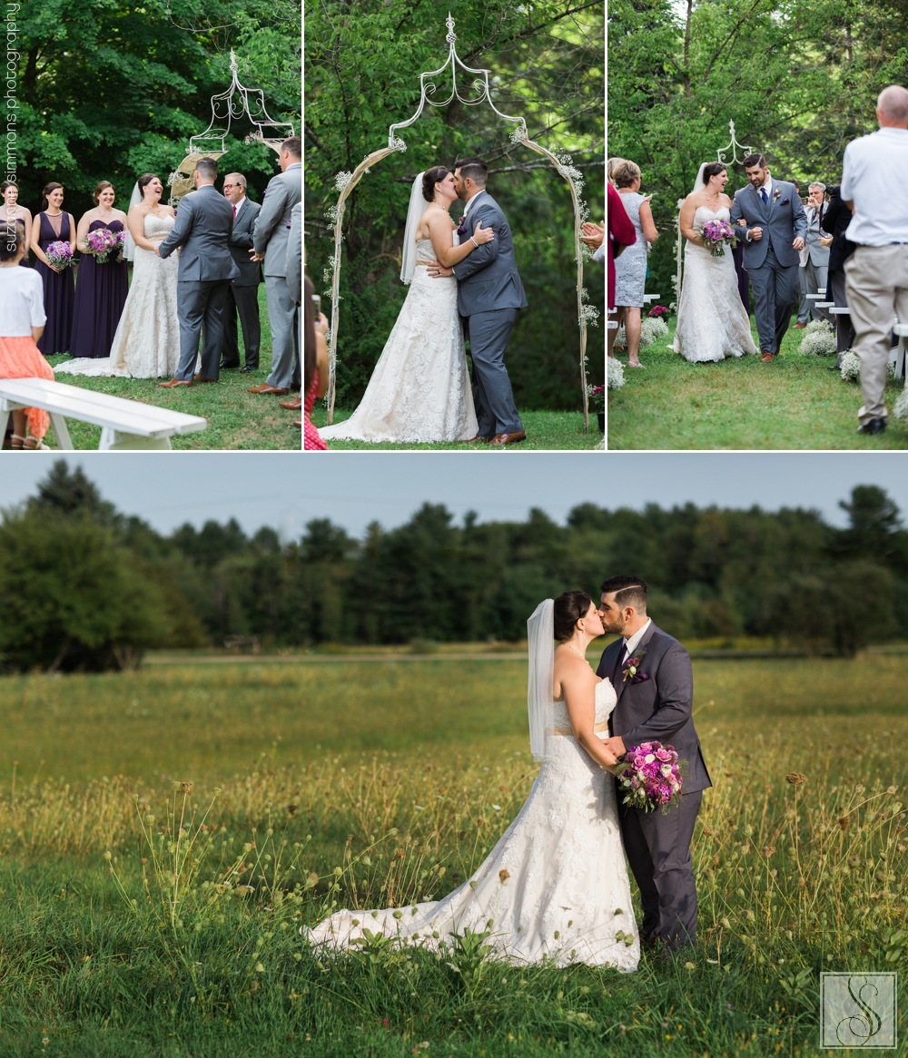 Wedding at Coolidge Family Farm in New Gloucester, Maine
