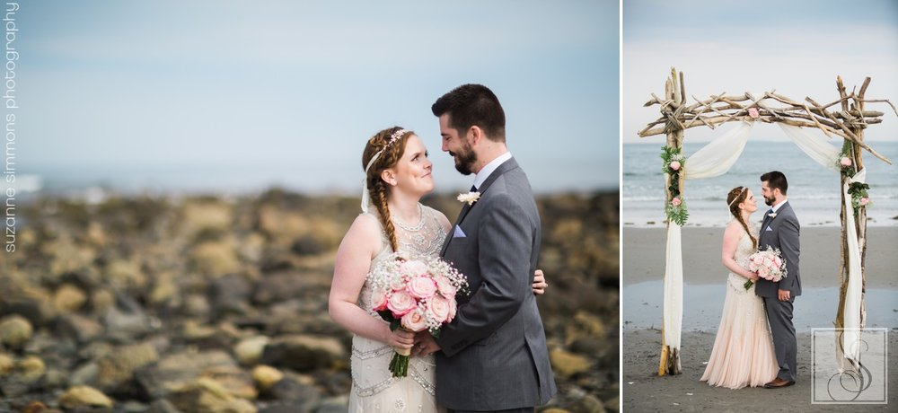Rye Beach New Hampshire Wedding Portraits