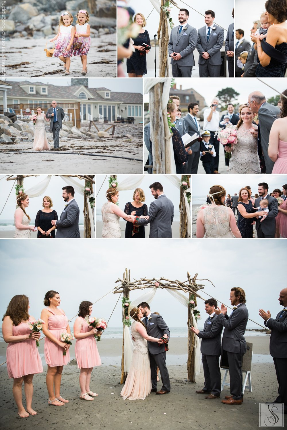 Rye Beach New Hampshire Seaside Wedding