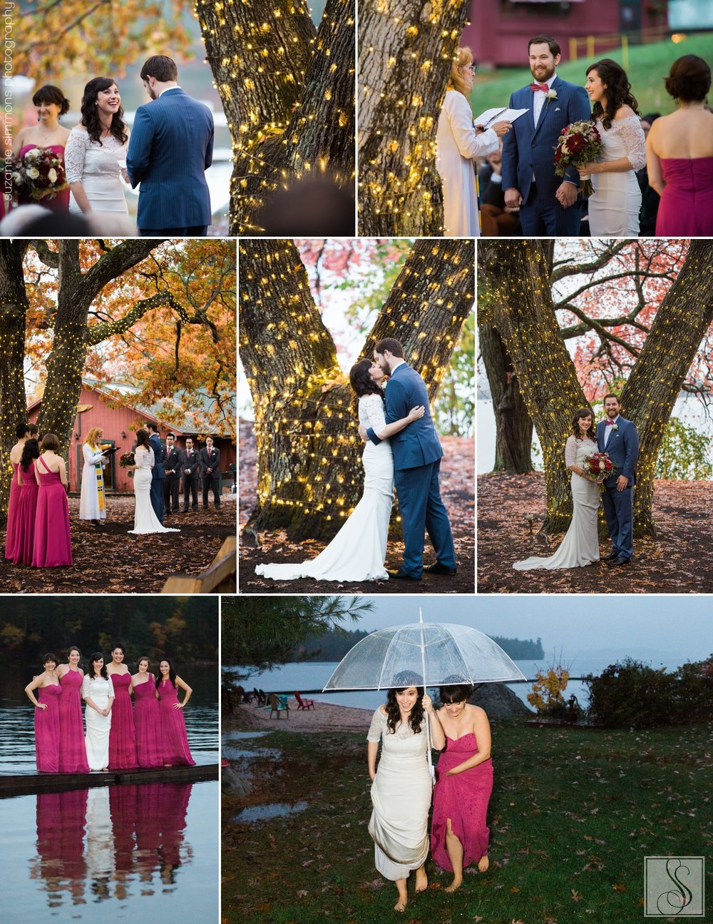 Kingsley Pines Fall Wedding Raymond Maine