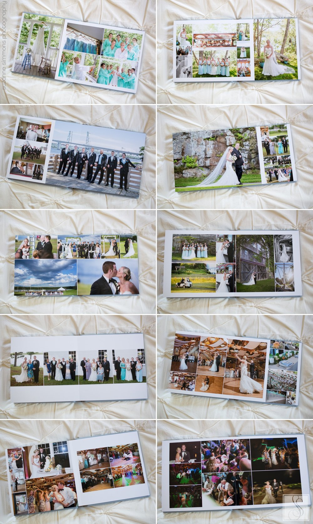 Custom heritage wedding album from Maine Maritime Museum Wedding Bath Maine