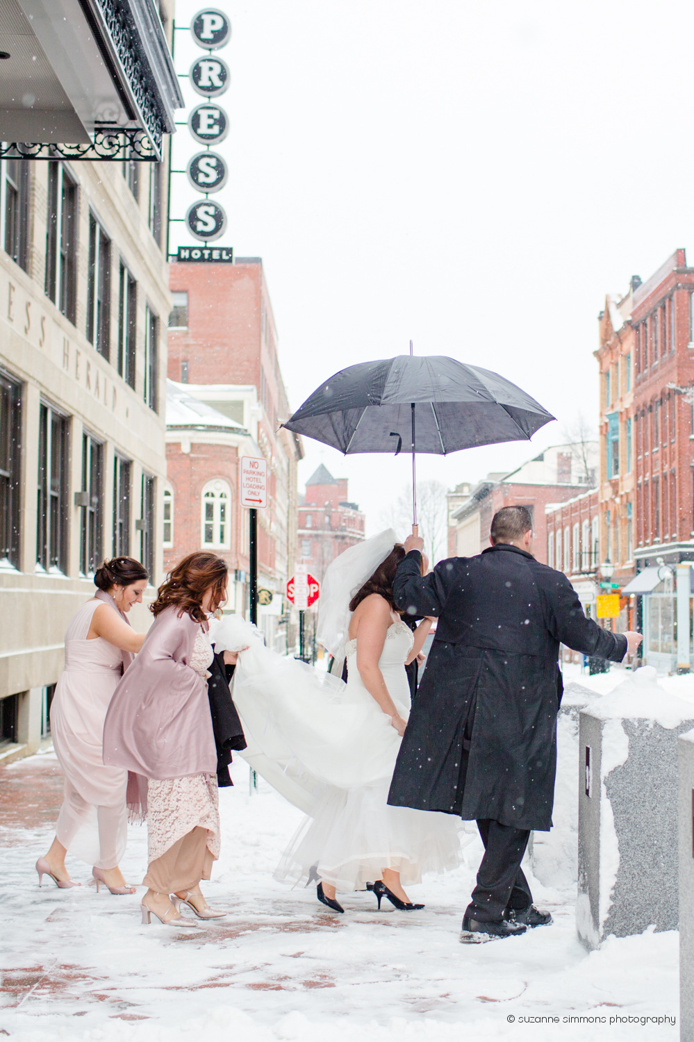 Winter wedding in Portland, Maine