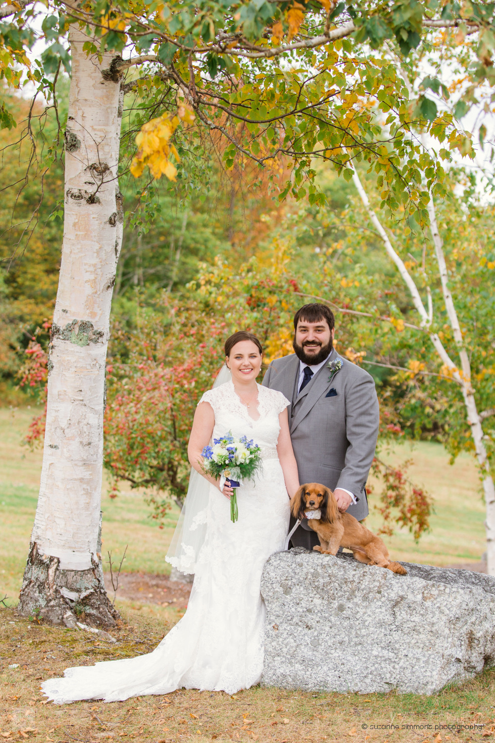 Lucerne Inn bridal portraits with dog