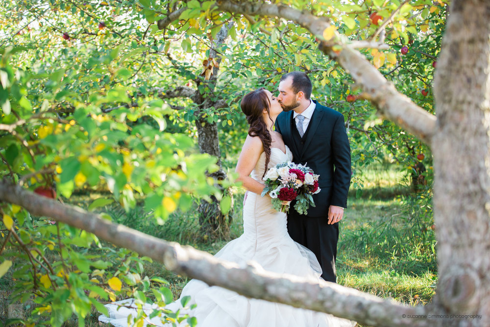 Wedding Portraits at Randall's Orchard in Standish, Maine