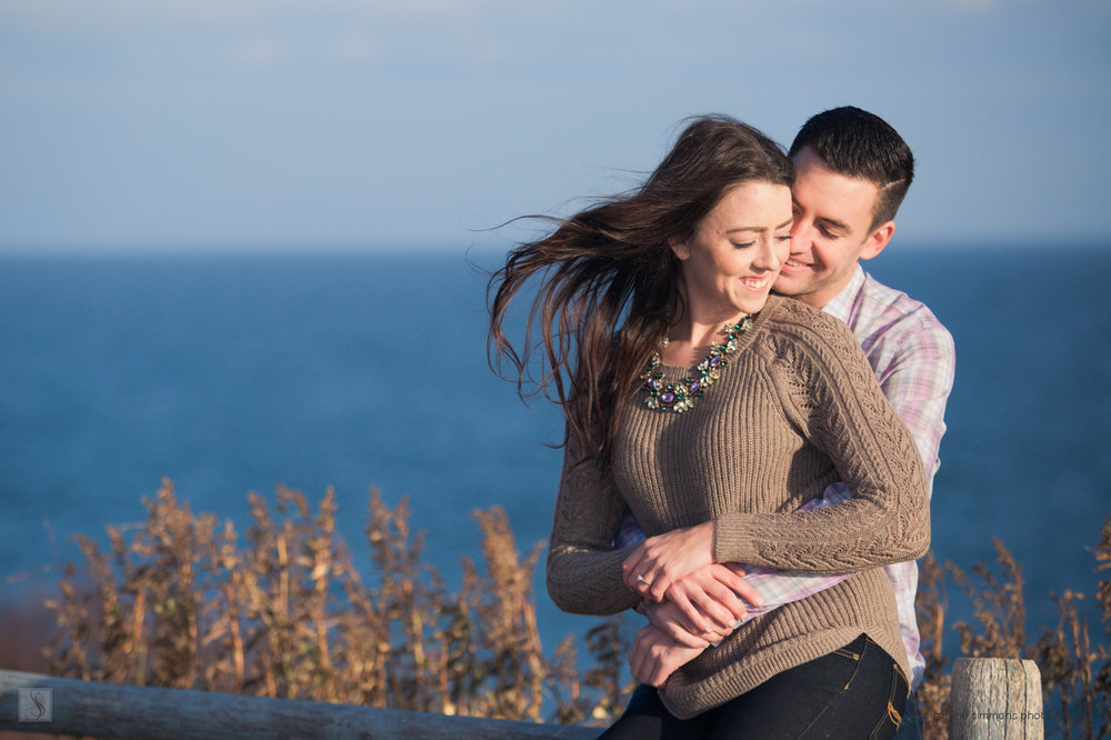 Engagement Portraits at Two Lights State Park