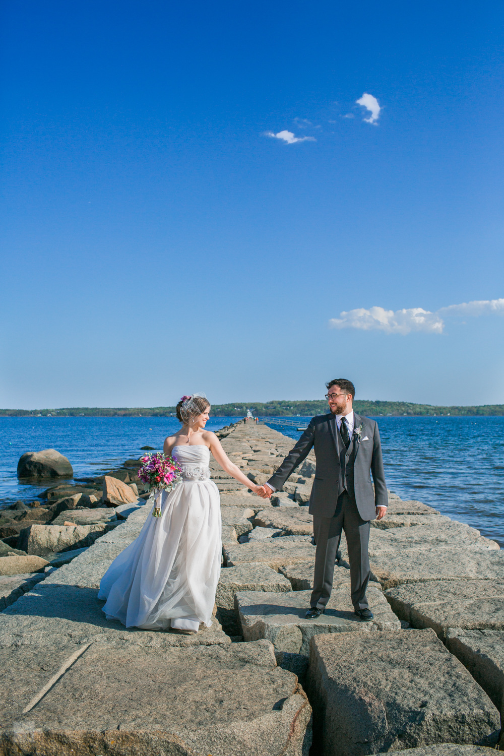 Wedding portraits at the Samoset Resort in Rockport, Maine