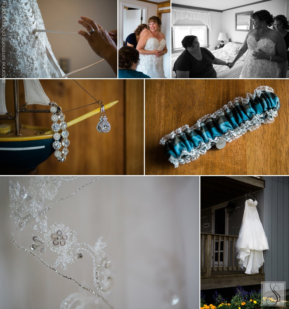 Wedding preparations in Harpswell, Maine