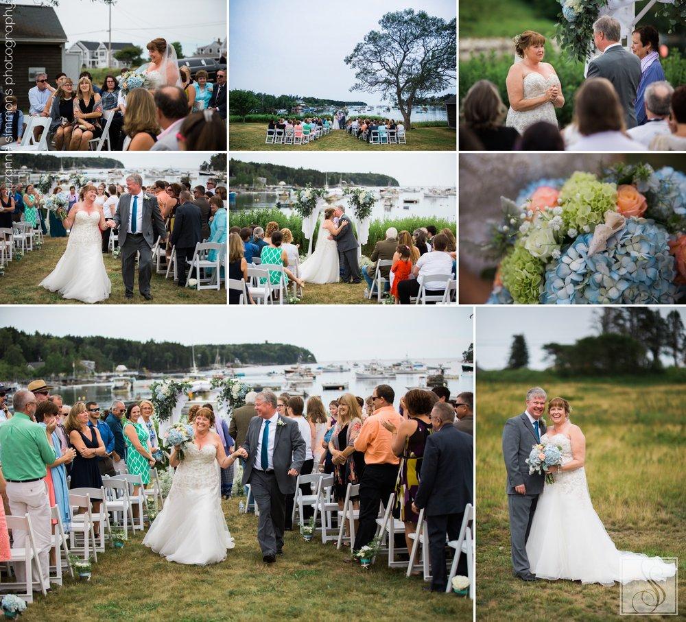 Bailey Island Maine Wedding Ceremony