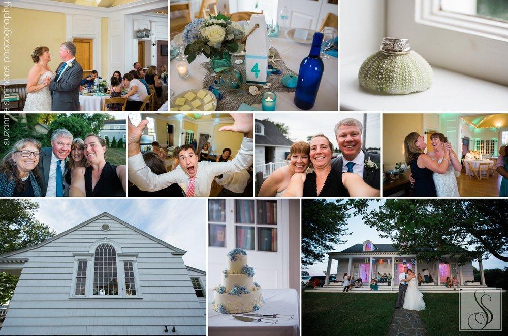Bailey Island Library Hall Wedding Reception
