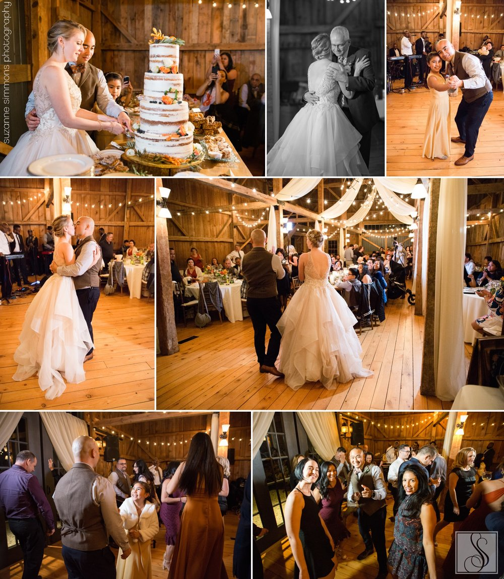Rustic barn wedding in Buxton, Maine