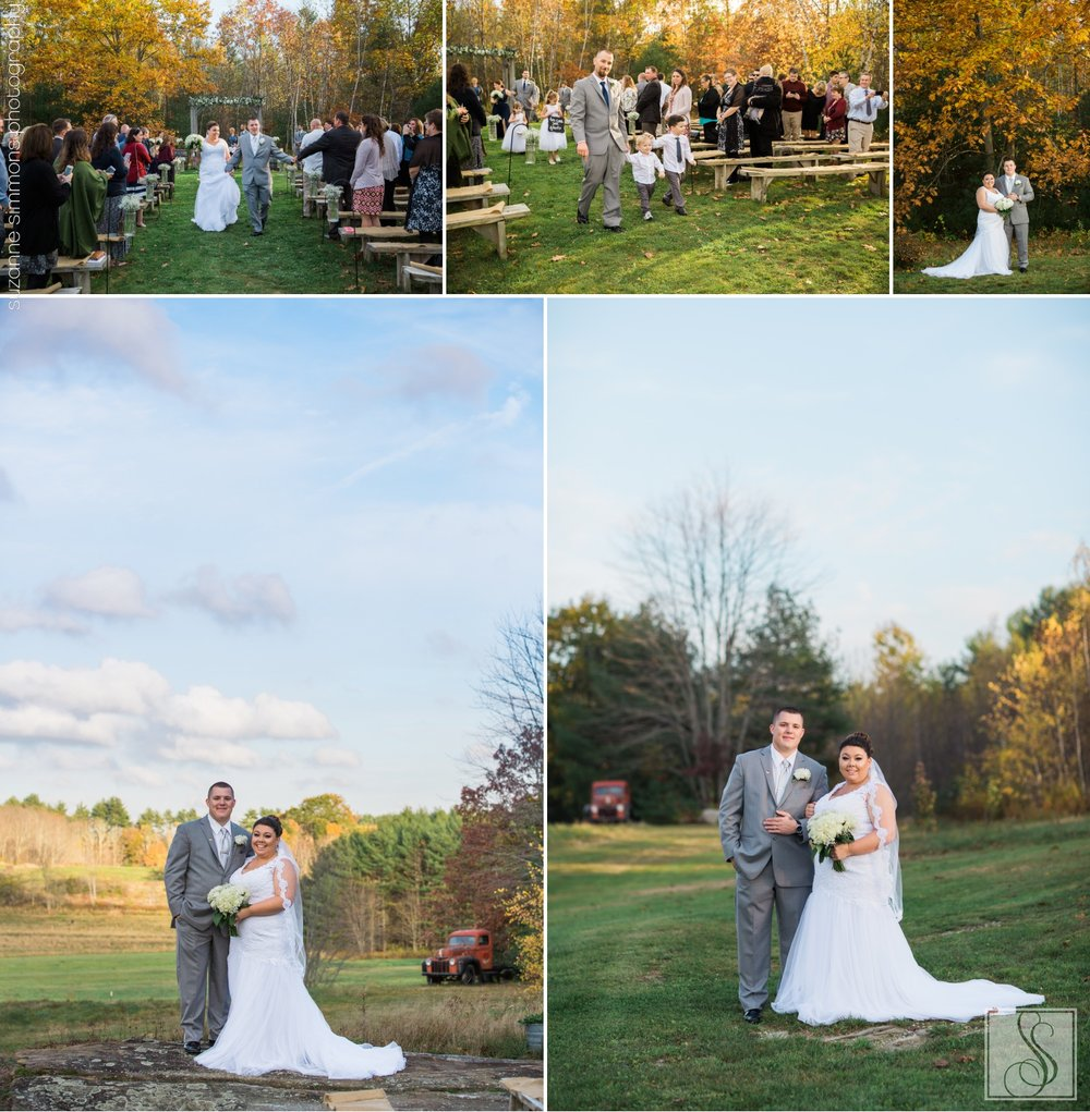 Wedding day portraits at the Hitching Post in Dayton, Maine