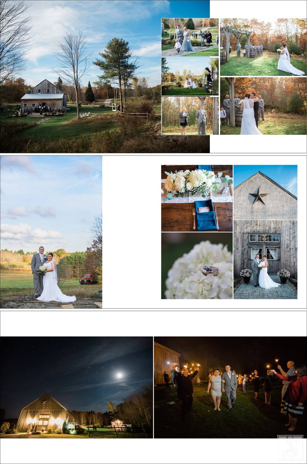 Maine wedding album page designs