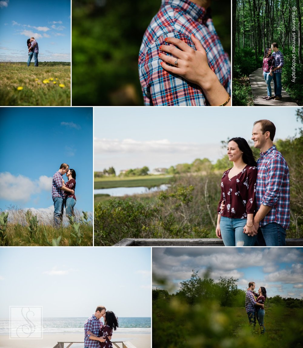 Engagement Portraits at Wells National Estuarine Research Reserve