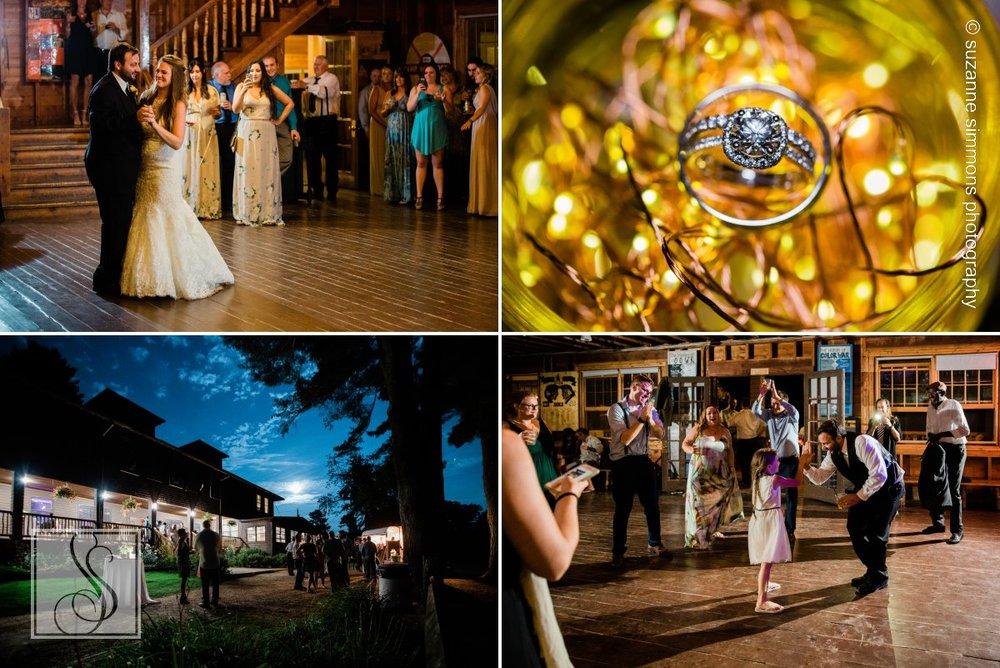 Wedding reception at Camp Wildwood