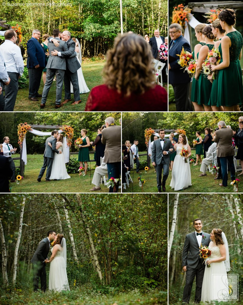 Maine fall wedding ceremony