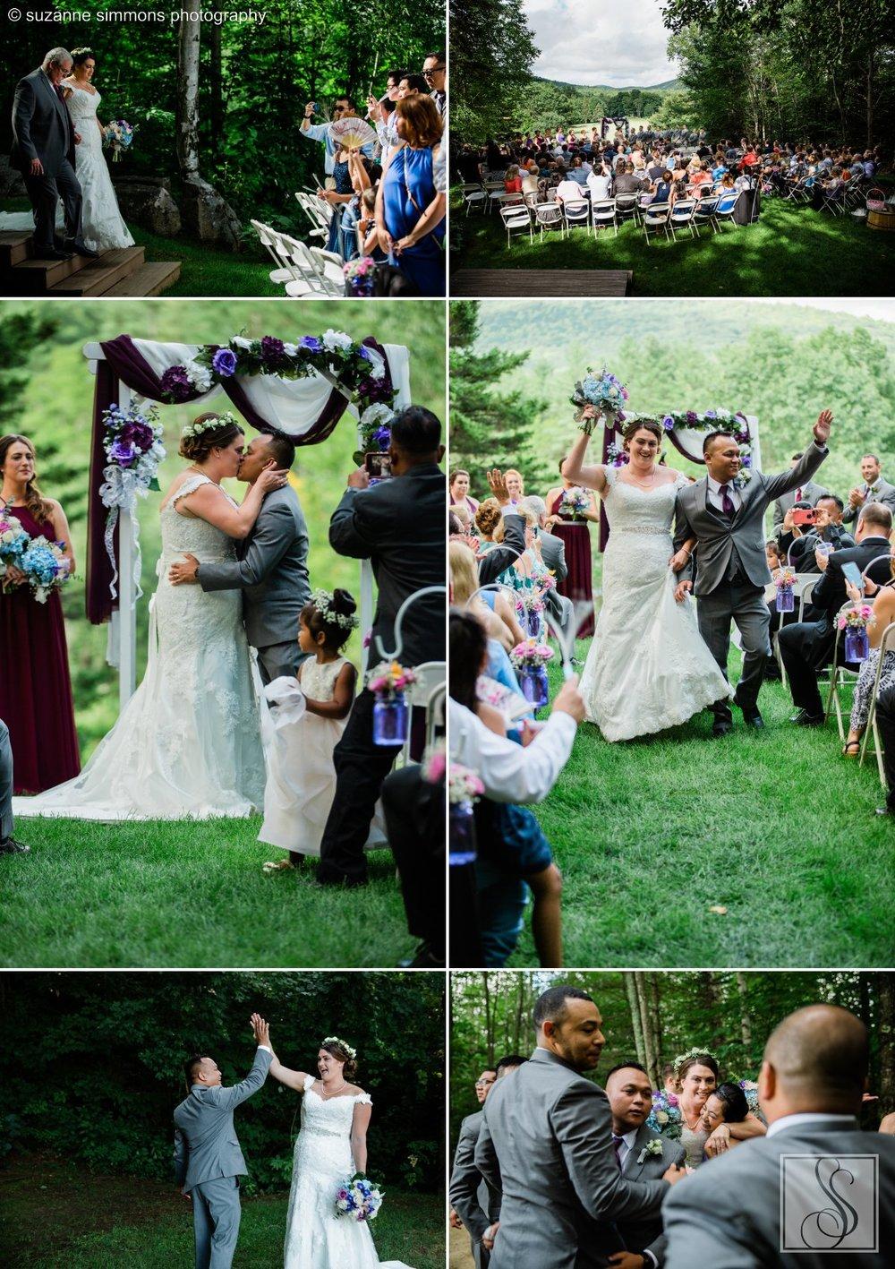 Wedding ceremony in Jackson, New Hampshire