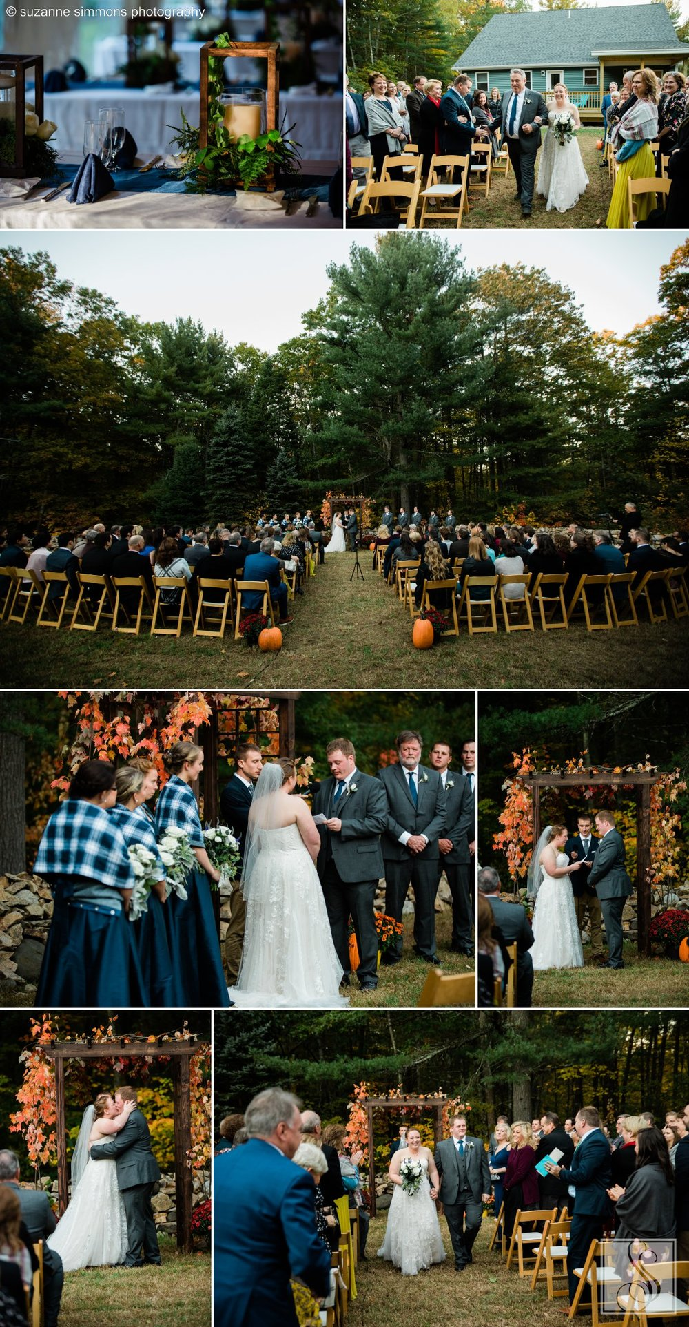 Wedding ceremony in Wells, Maine