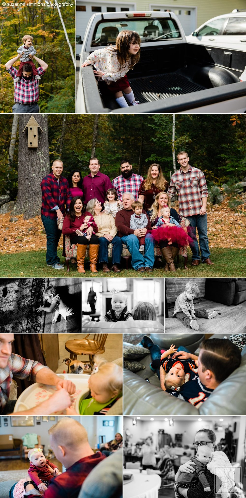 Waterboro Maine family portraits