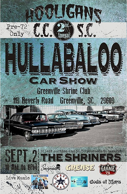 Hooligans Hullabaloo Car Show Lets Go Rockabilly - Car show greenville sc