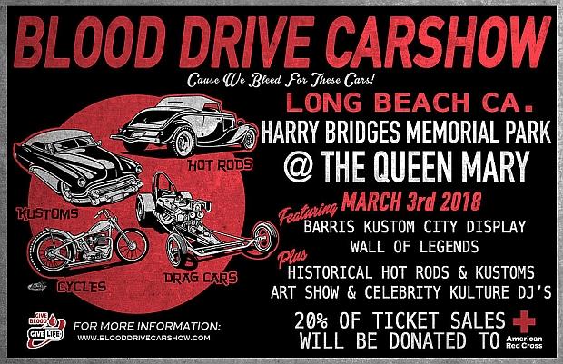 Blood Drive Car Show Lets Go Rockabilly - Long beach car show 2018