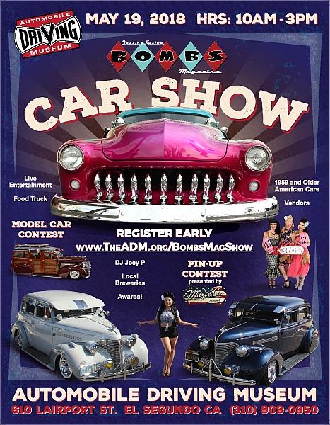 Bombs Magazine Car Show Lets Go Rockabilly - El segundo car show