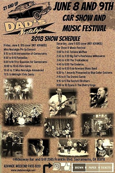 Dads Nostalgic Car Show Music Festival Saturday Lets Go - Car show in sacramento this weekend