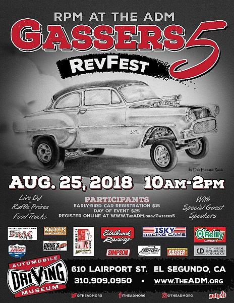 Gassers RevFest Lets Go Rockabilly - El segundo car show
