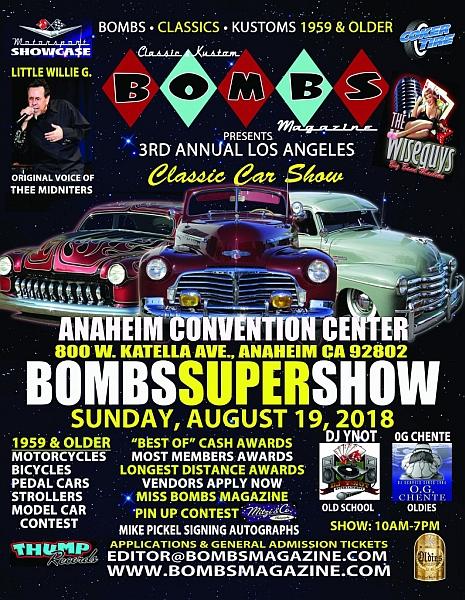 Bombs Super Show Lets Go Rockabilly - Lowrider car show los angeles 2018