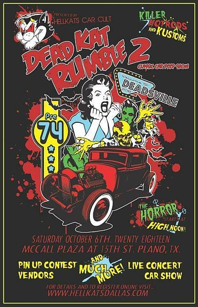 Dead Kat Rumble Lets Go Rockabilly - Plano car show