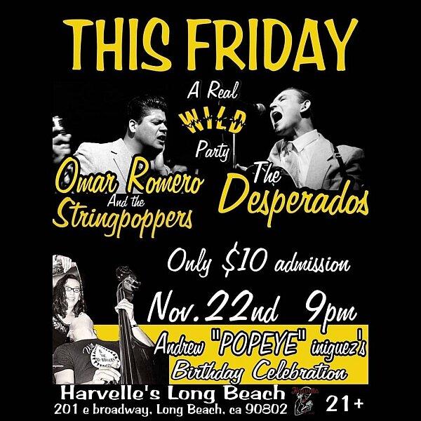 Omar Romero And The Stringpoppers The Desperados Let S Go Rockabilly
