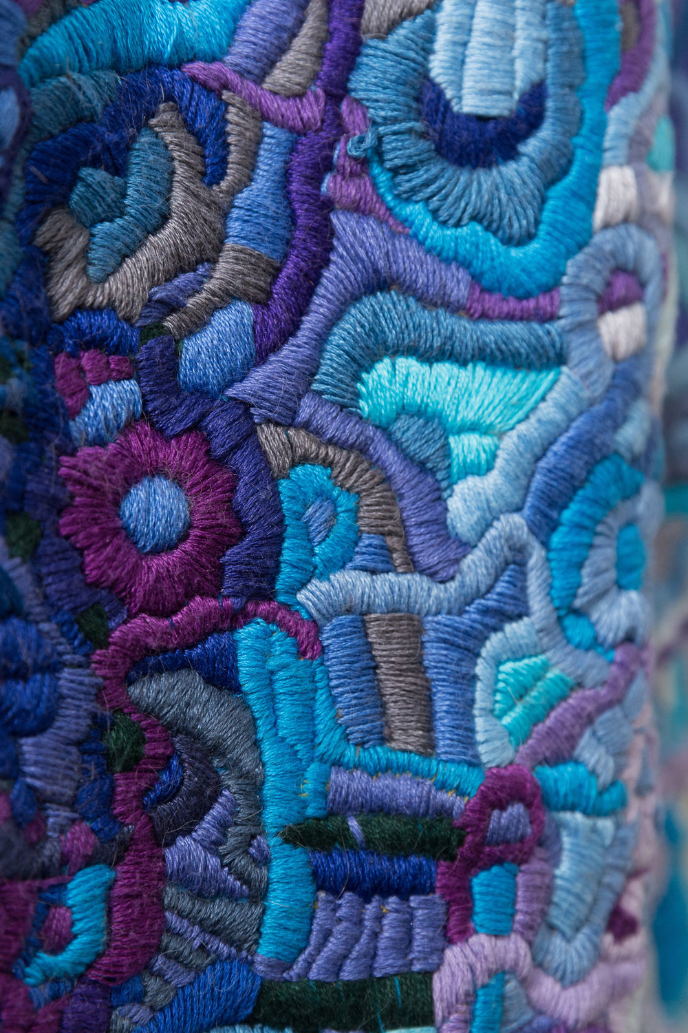 "Embroidery can function as a powerfully self-expressive site for tactile communication that isn't bound to the conventions of an alphabet. - Historically, embroidery was remedial labor for ""mad"" or ""disorderly"" women in institutional settings. But the value of such work expands well beyond the production and maintenance of patients' garments."