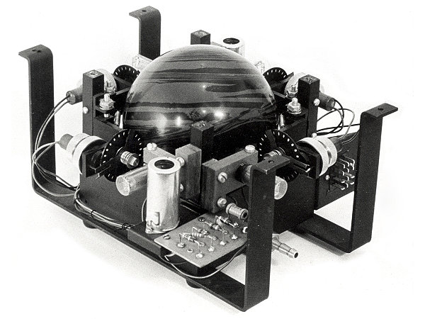 The first trackball mouse: a giant sphere that you rotate with your hands.