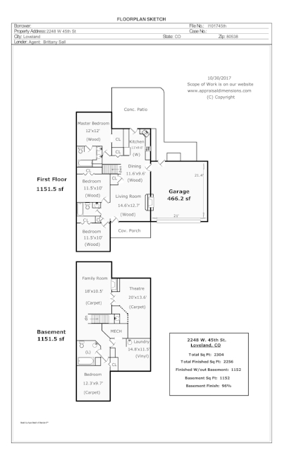 Example Floor Plan -