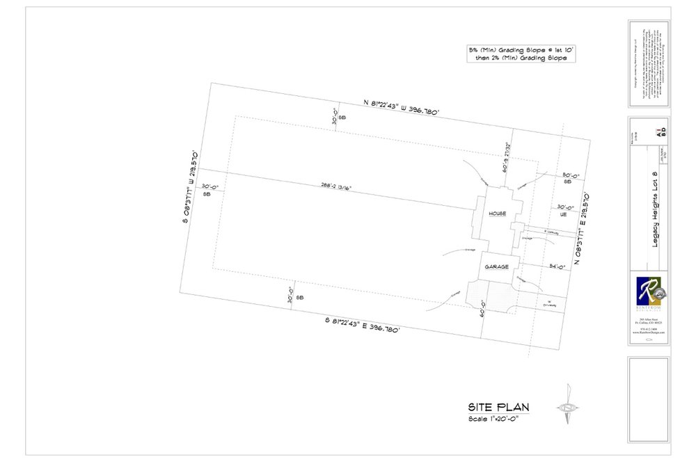 Example Site Plan - Download an Example Site Plan for this Lot