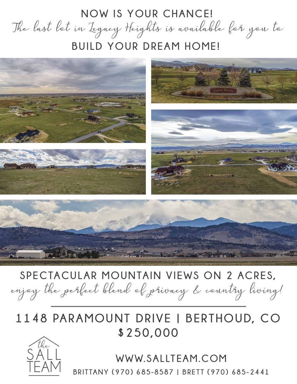 Listing Brochure  - Download a 2 Page Color Brochure