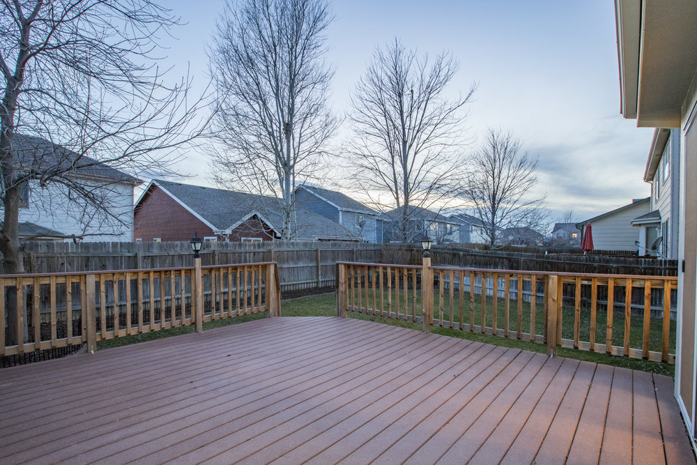 Fenced in Yard w/ Large Deck