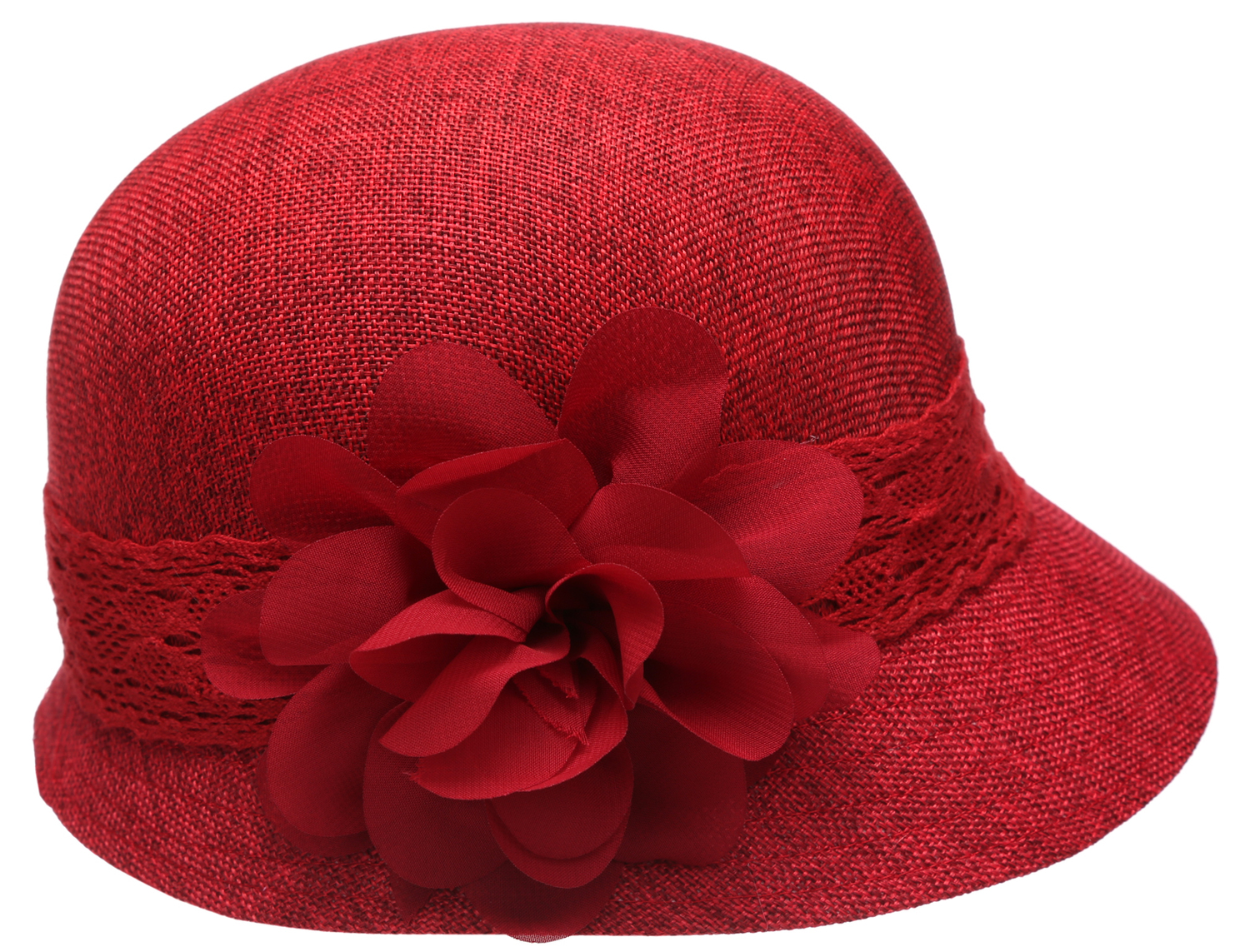 8c4c57c08dddd0 Women's Gatsby Linen Cloche Hat With Lace Band And Flower — MirMaru