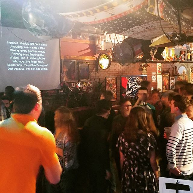 #karaoke is filling up fast! Get your songs in now!