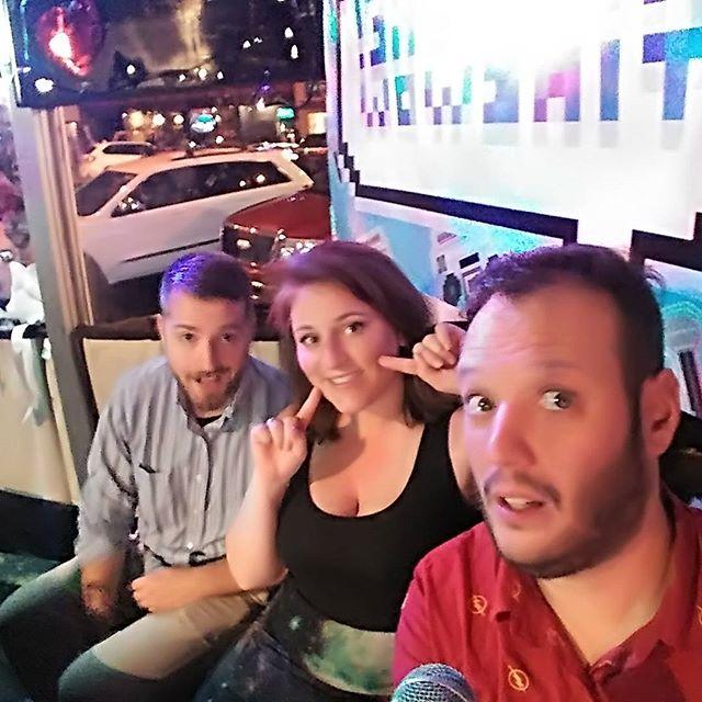 Good friend @sleeperawakened finally joins us behind the scenes after 10 years! #karaoke #karaoketimewow