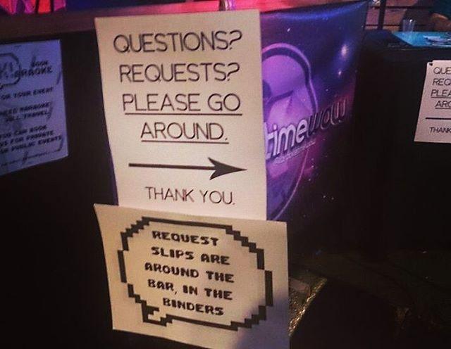 The signs SHOULD explain it, but no one ever seems to get it. #karaoke #karaoketimewow