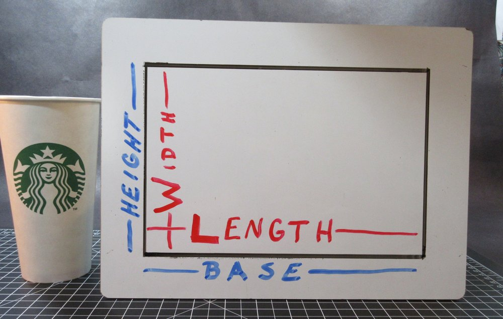 When the same rectangle is upright (like above) we can visualize the height and base.