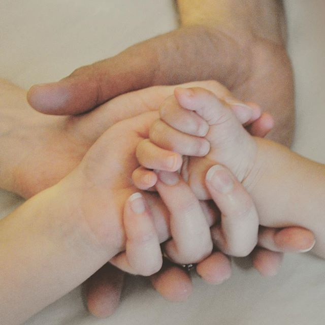 My family's hands. The most precious things I could ever hold. #nail_snail_baby #love #holdinghands #dadmumboygirl #4hands #family #somuchlove
