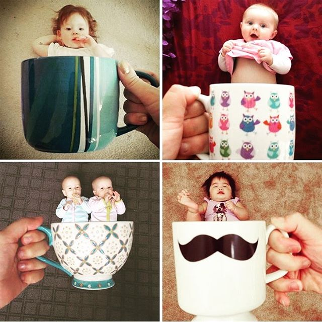 He he. Anyone need a cup of tea or coffee to get through the day? My 3pm cup of tea is a must. #nail_snail_baby #cupoftea #cupofcoffee #babyinacup #cheekymug #cutebabies