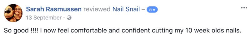 Nail Snail Review Feedback