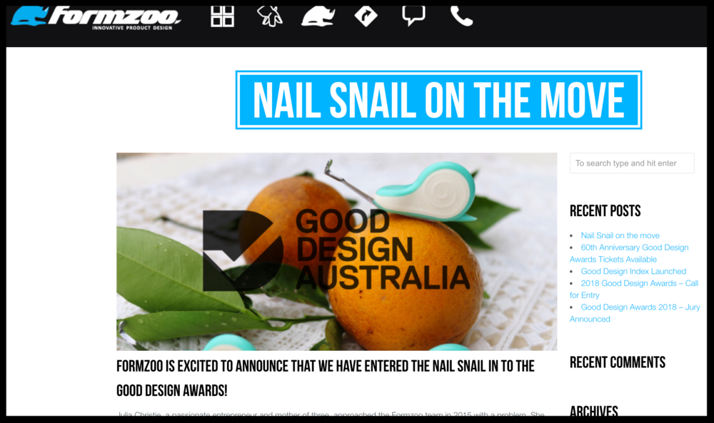 Form Zoo - Nail Snail On The Move
